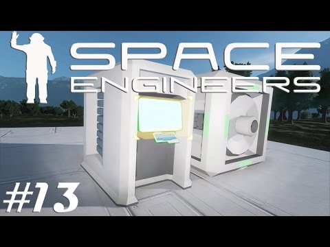 Let's Play Space Engineers S2E13 Automatic Docking Trigger