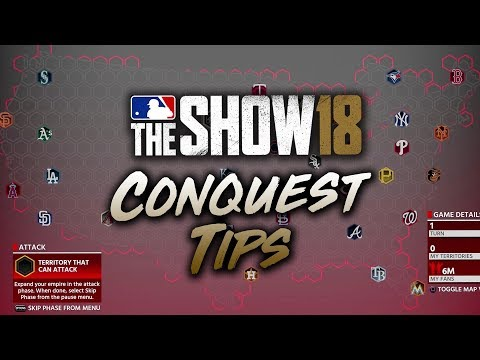 MLB The Show 18 Conquest Tips & Tutorial How to Beat Conquest