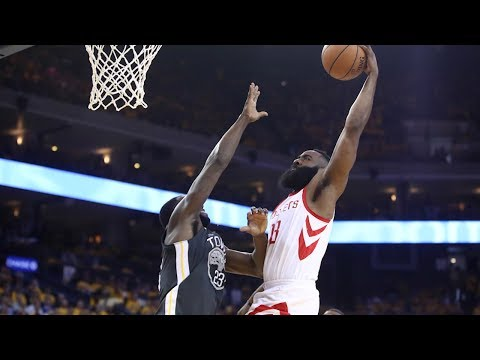 James Harden Dunks on Draymond james harden