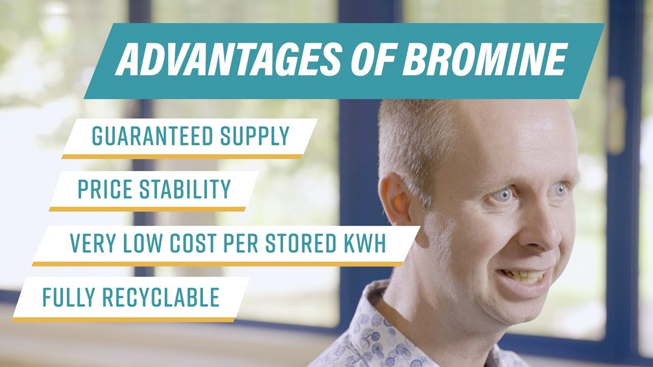 Bromine & redox-flow batteries for easier energy storage