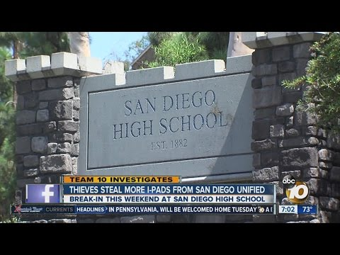 Break-in at San Diego High School means more technology losses for the district