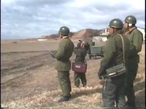 北部方面隊 第7師団 12.7mm重機関銃 対空射撃 1989.3.18  未編集