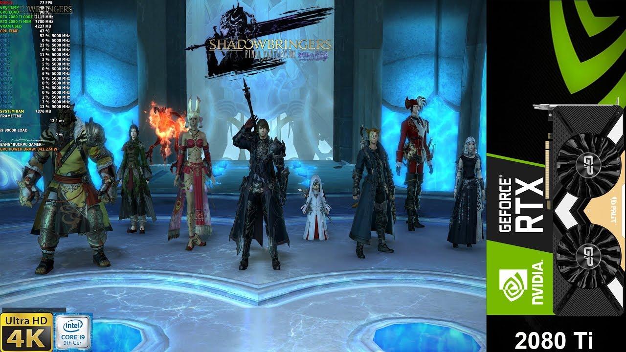 Final Fantasy XIV Shadowbringers benchmark Maximum Settings 4K | RTX