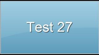 test27. Test des anagrammes. Préparation concours.