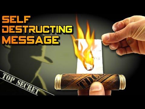 SELF-DESTRUCTING MESSAGE - Amazing Invention | Creative Minds