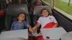 Inside RedCoach bus