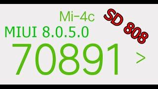 Xiaomi mi4c (MIUI8 Stable 8.0.5.0 Official) AnTuTu 6.2.1 Benchmark + Temperature (70891 pts)