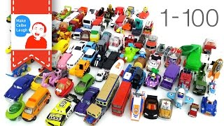 learn to count numbers 1 to 100 for kids with street vehicles tomica