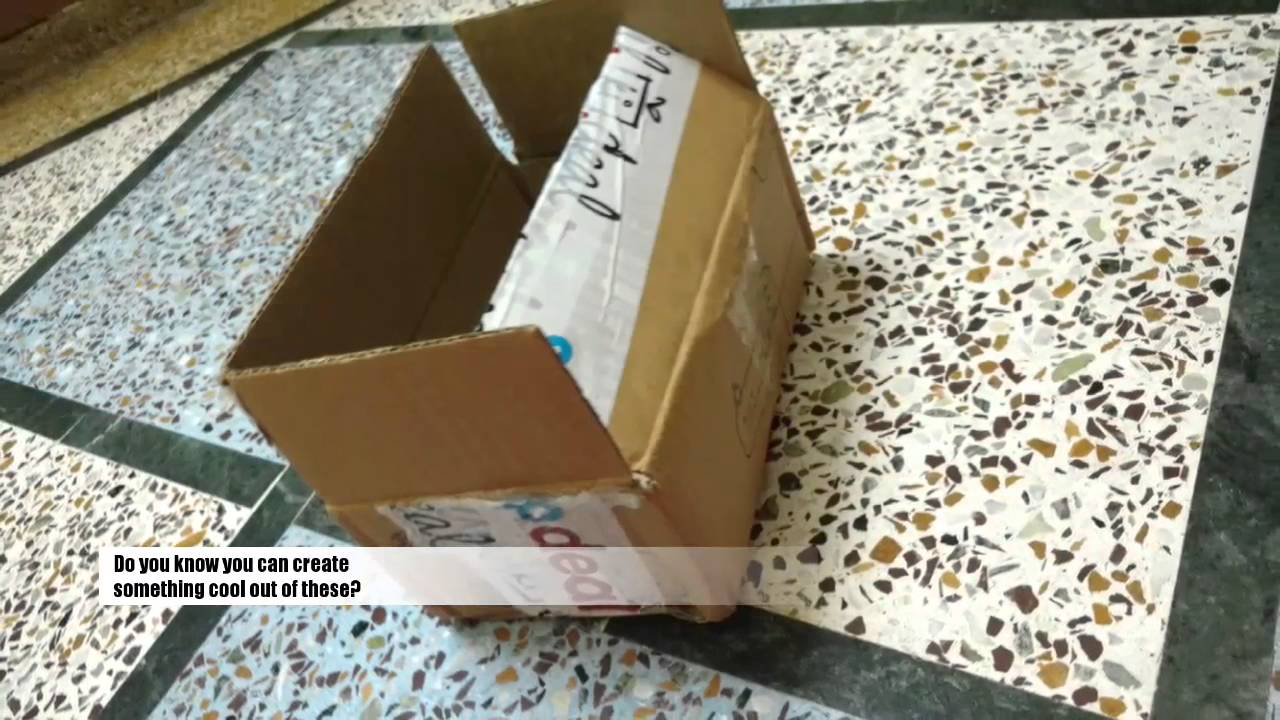 Recycled Cardboard Box DIY Mobile Stand. Do It Yourself