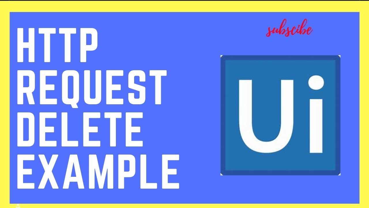 UiPath Rpa - Rest Delete Example || HTTP Request
