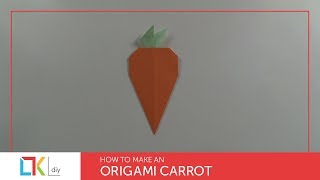 Origami toys #8 - How to make an origami carrot