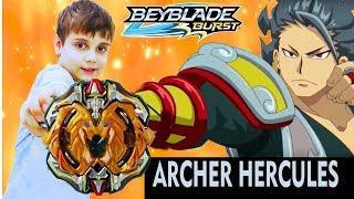 ЛУЧНИК ГЕРКУЛЕС (Archer HERCULES) БейБлэйд Распаковка Обзор Битва Beyblade Burst Super Z