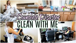 COMPLETE DISASTER EXTREME CLEAN WITH ME 2019 | MESSY HOUSE ALL DAY CLEANING MOTIVATION | DIY DESK