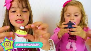 LAURINHA BRINCANDO DE CARRINHO DE SORVETE !  PRETEND PLAY WITH ICE CREAM CART