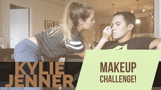 MY WIFE TRIED TO MAKE ME LOOK LIKE KYLIE JENNER *Makeup Challenge