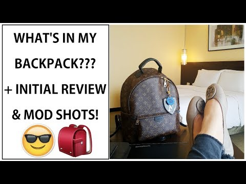 LOUIS VUITTON PALM SPRINGS MM BACKPACK: WIMB | FIRST IMPRESSIONS + MOD SHOTS!!!