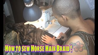 Gambar cover HOW TO SEW HORSE-HAIR BRAID / Easy & Simple !