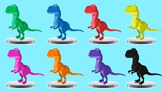 Learn Colors with Baby Dinosaur Toys Painting Colors Finger Family Song Learning Videos for Kids