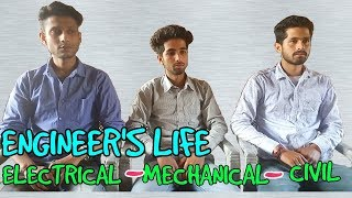 ENGINEER'S LIFE 🔥|| ELECTRICAL~MECHANICAL~CIVIL || FUNNY VIDEO || KANGRA BOYS 2018