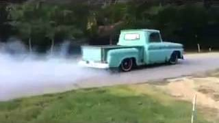1965 C10 chevy 283 burnout