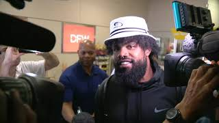 Dallas Cowboys Running Back Ezekiel Elliott arrives at DFW airport