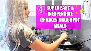 4 EXTREMELY EASY & INEXPENSIVE CROCKPOT MEALS // GLUTEN FREE DINNER IDEAS // BEAUTY AND THE BEASTONS