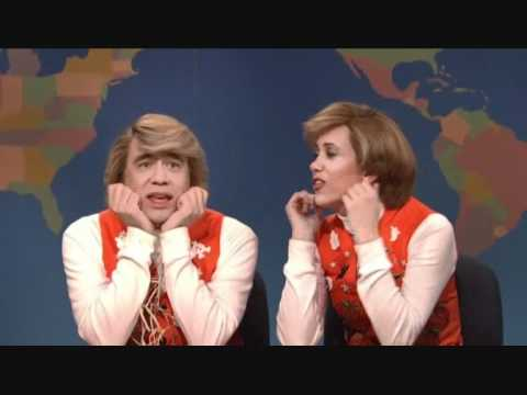 SNL - Kristen Wiig and Fred Armisen corpsing #1 - 'Garth & Kat' Halloween