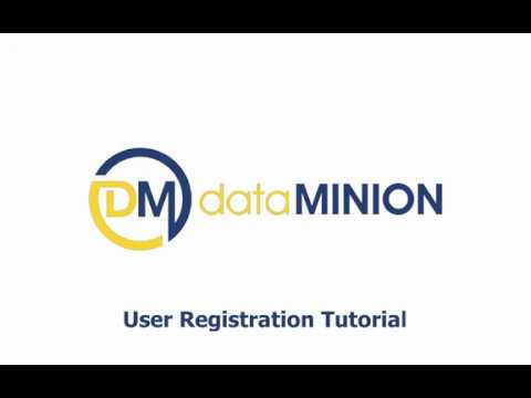 dataMINION - how to register a user