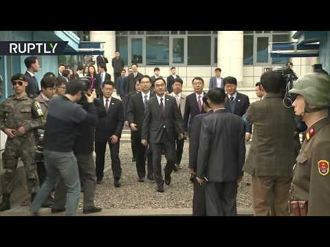 Korean delegations reach breakthrough on leaders' summit during meeting in demilitarized zone