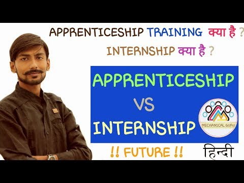 [HINDI]APPRENTICE TRAINING क्या है? INTERNSHIP TRAINING क्या है? APPRENTICESHIP TRAINING~INTERNSHIP