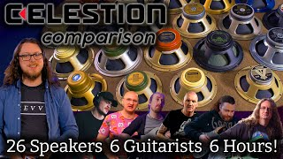 Every Celestion Speaker Compared! - Clean, Crunch, Metal....