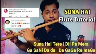 Suna Hai   Jubin Nautiyal   Flute Tutorial In Hindi   By Harish Mahapatra