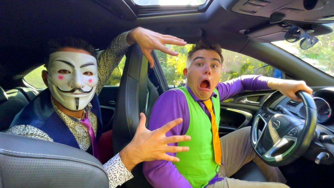 Mr. Joker on Lamborghini Stole Car Keys & Car VS Mr. Joe on Chevy Camaro Hid Car Key under Wheel 13+
