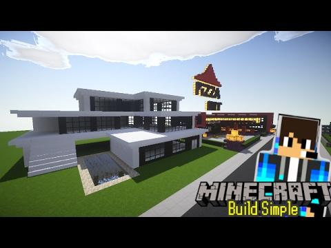 Cara Membangun Rumah Modern Minecraft Youtube