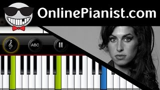 Amy Winehouse - Rehab - Piano Tutorial & Sheets (Easy Version)
