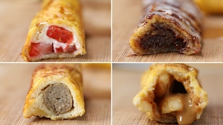 French Toast Roll-Ups 4 Ways by : Tasty