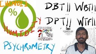 [HINDI]PSYCHROMETRY | HUMIDITY | DBT , DPT & WBT |WHY DEW FALLS /REASON BEHIND NATURE