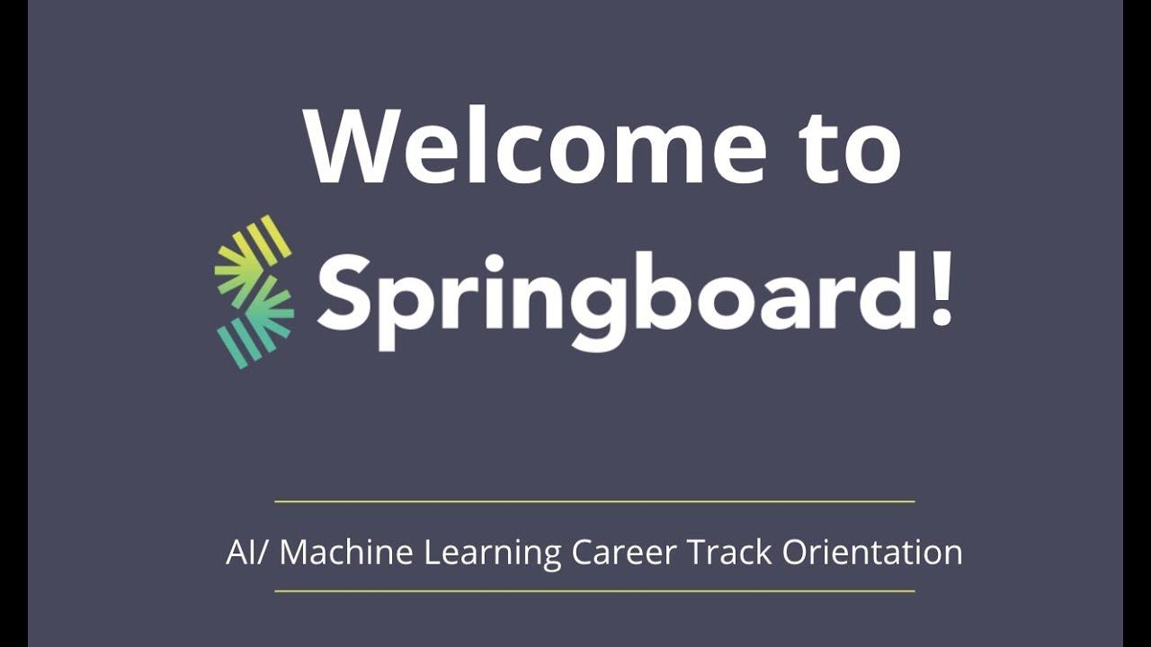 AI/Machine Learning Career Track Orientation