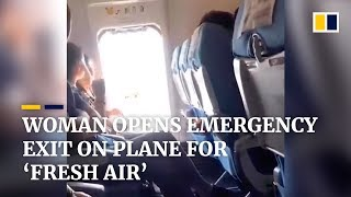 Woman opens emergency exit on plane for 'fresh air'