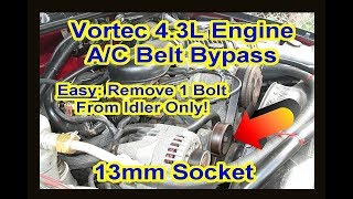 Chevy GMC 4.3L Vortec AC Compressor Bypass Delete Fix Removal Locked Up Repair Clutch Pulley S10