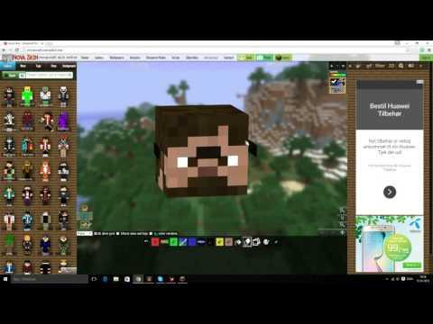 Hvordan man får solbriller på sit Minecraft skin