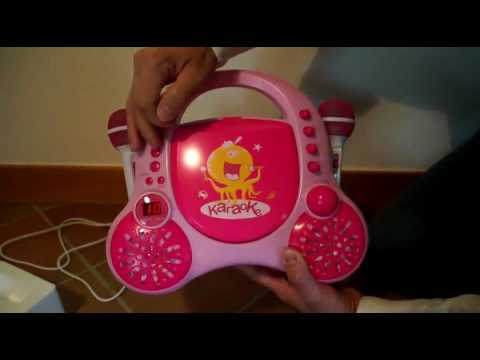 Auna Rockpocket   Lecteur CD karaoké enfant Unboxing & Avis, The VoiceKids à la maison