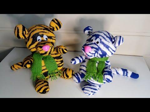 Тигр своими руками из носков