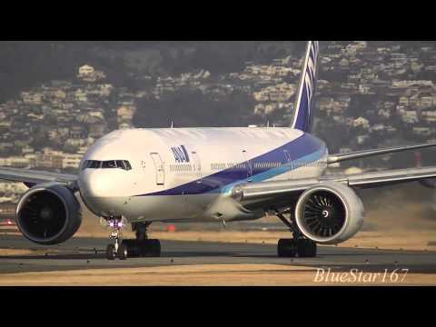 All Nippon Airways (ANA) Boeing 777-300ER (JA779A) takeoff from ITM/RJOO (Osaka - Itami) RWY 32L