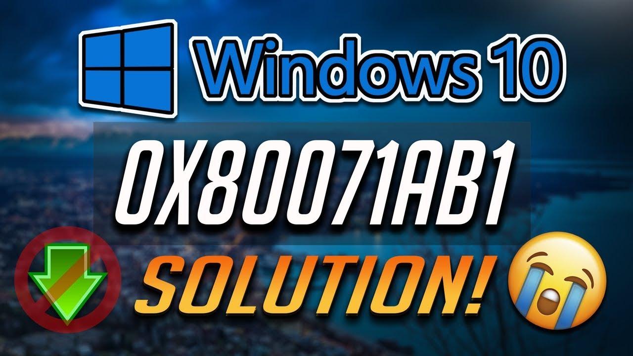How to Fix Windows Update Error 0x80071ab1 in Windows 10 [Tutorial] 2019