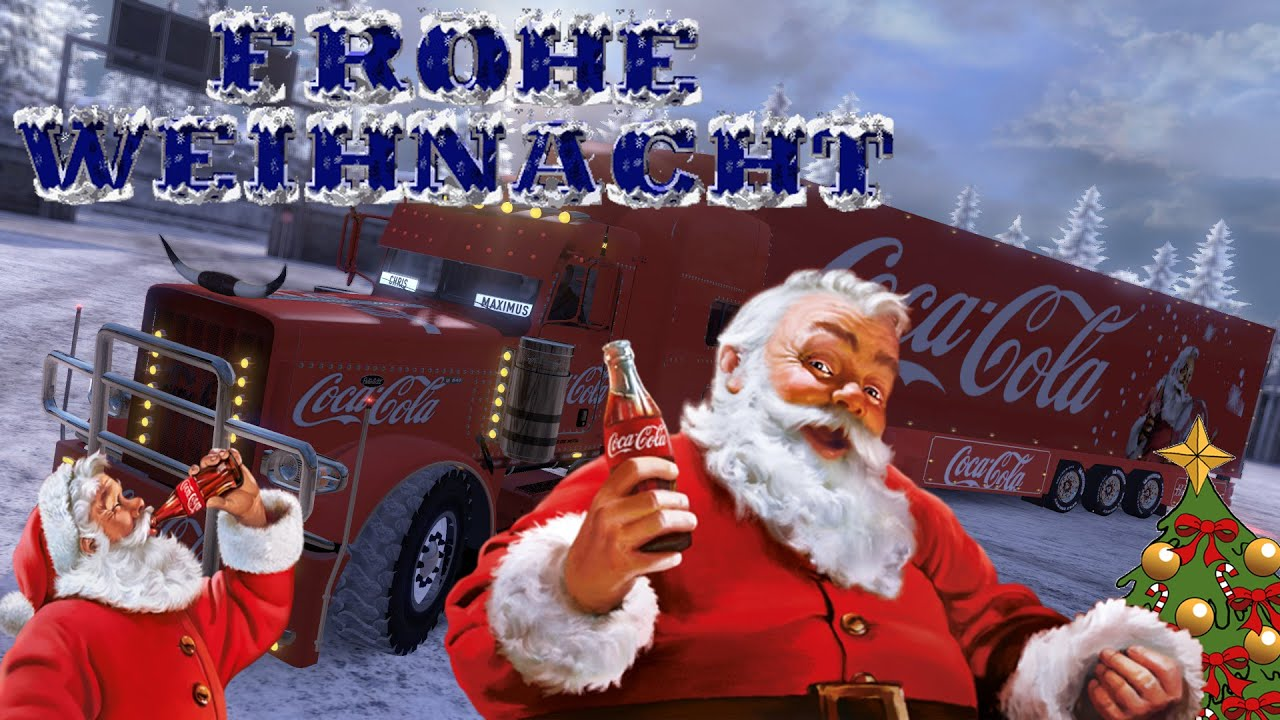 frohe weihnachten ets2 coca cola weihnachtstruck youtube. Black Bedroom Furniture Sets. Home Design Ideas