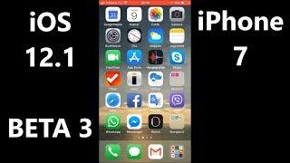 iOS 12.1 BETA 3 on iPhone 7 speed test