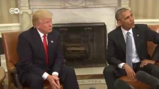 Обама принял в Белом доме избранного президента Трампа