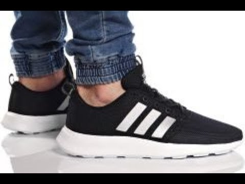 4d21b584f Unboxing Review sneakers Adidas Cloudfoam Swift Racer AW4154 - YouTube