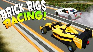 Brick Rigs Game | DRAG RACING ON THE RACE TRACK! | Brick Rigs Gameplay